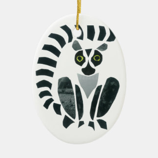 Lemur Ceramic Ornament