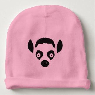Lemur Face Silhouette Baby Beanie