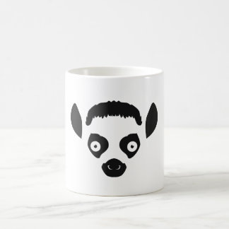 Lemur Face Silhouette Coffee Mug