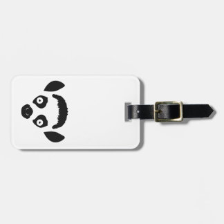 Lemur Face Silhouette Luggage Tag