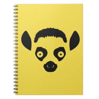 Lemur Face Silhouette Notebook
