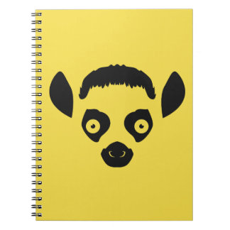 Lemur Face Silhouette Notebooks