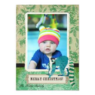 Lemur Jade Rose Christmas Photo Card 14 Cm X 19 Cm Invitation Card