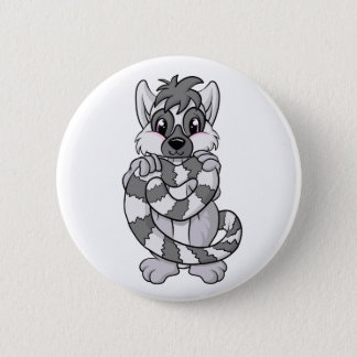 Lemur Love! 6 Cm Round Badge