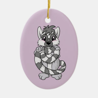 Lemur Love! Ceramic Ornament