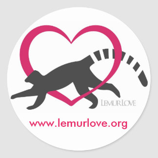 Lemur Love Classic Logo sticker