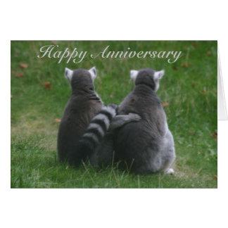 Lemur love,! .. Happy Anniversary Cards