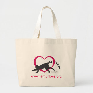 Lemur Love Logo Large Tote Bag