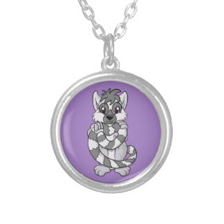 Lemur Love! Silver Plated Necklace