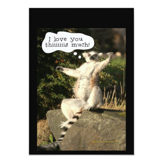 Lemur Love You This Much Funny  Fathers Day 13 Cm X 18 Cm Invitation Card