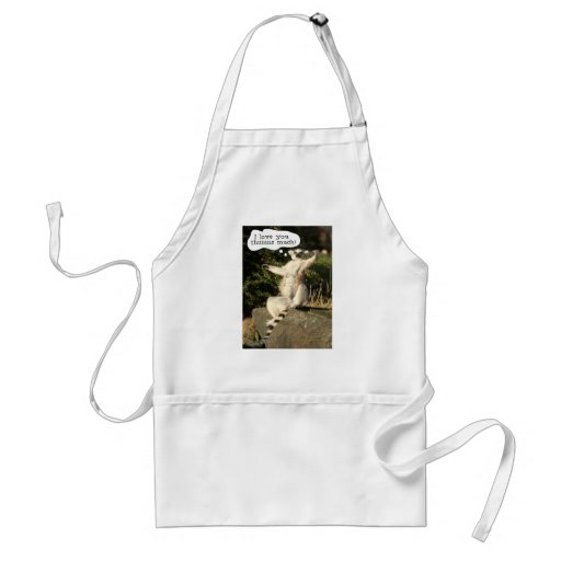 Lemur Love You This Much Funny  Fathers Day Apron