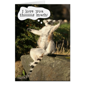 Lemur Love You This Much Mothers Day Card Template
