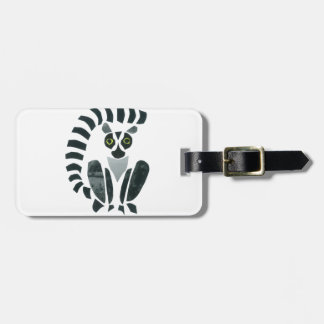 Lemur Luggage Tag