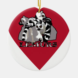 Lemur Mug Ceramic Ornament