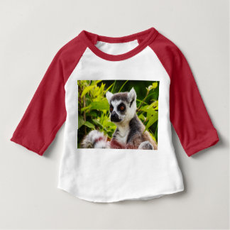 lemur of Madagascar on  3/4 raglan baby T-shirt