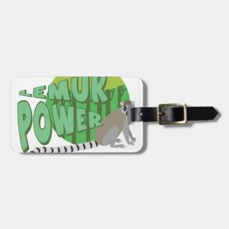 Lemur Power Luggage Tag