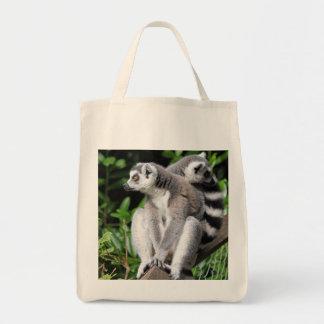 Lemur ring-tailed cute photo shopping tote bag
