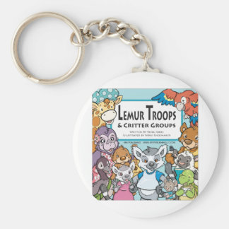Lemur Troops & Critter Groups Basic Round Button Key Ring