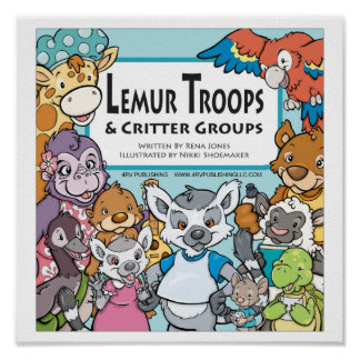 Lemur Troops & Critter Groups COVER Posters