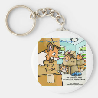 Lemur Troops & Critter Groups Fox Leash Basic Round Button Key Ring