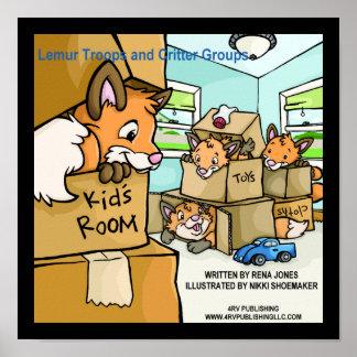 Lemur Troops & Critter Groups Fox Leash Poster