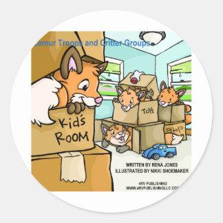 Lemur Troops & Critter Groups Fox Leash Sticker