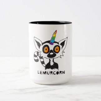 LemurCorn Two-Tone Coffee Mug