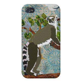 Lemurs Blue Moon Boho i iPhone 4 Case