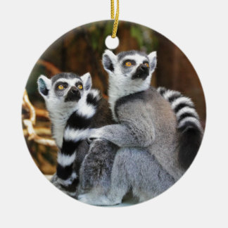Lemurs Ceramic Ornament