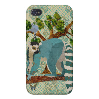 Lemurs Out On A Limb iPhone Case iPhone 4/4S Covers
