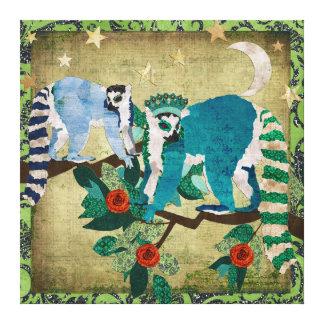Lemurs Shooting Stars Canvas Canvas Print