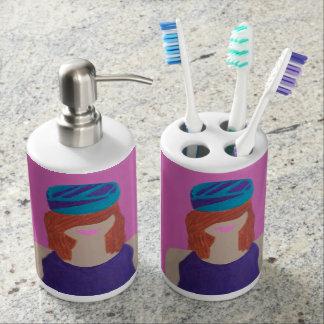 Lena Soap Dispenser And Toothbrush Holder
