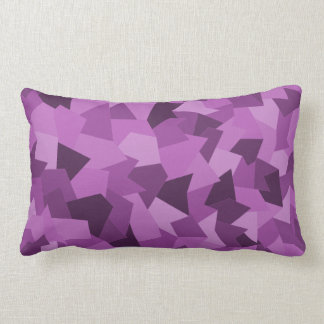Lendenkissen with abstract sample in purple lumbar cushion