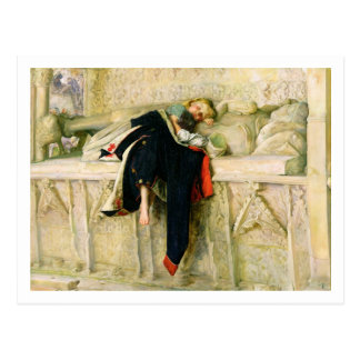 L'Enfant du Regiment (The Random Shot) 1855 (oil o Postcard