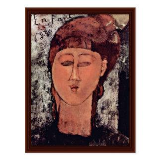 L'Enfant Grass By Modigliani Amedeo Postcard