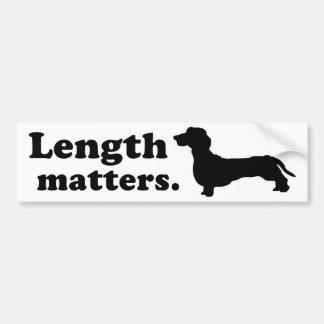 Length Matters Dachshund Bumper Sticker