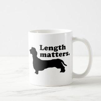 """Length Matters."" (Dachshund) Coffee Mug"