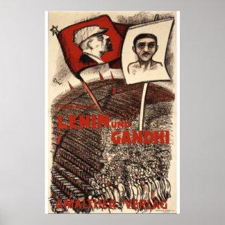 Lenin and Gandhi Poster