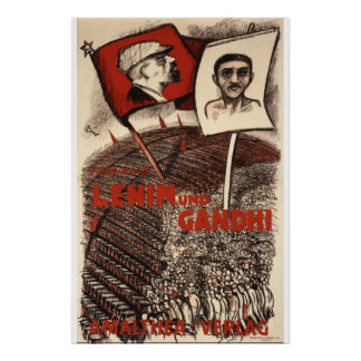 Lenin and Gandhi Poster