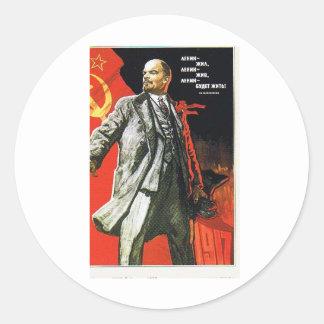 lenin father of soviet union classic round sticker