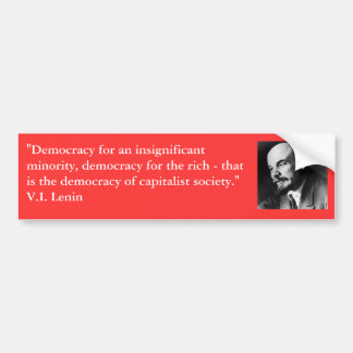 Lenin in profile bumper sticker
