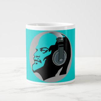 LENIN WITH HEADPHONES (BLUE) LARGE COFFEE MUG