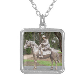 Lennie Gwyther on Ginger Mick Silver Plated Necklace