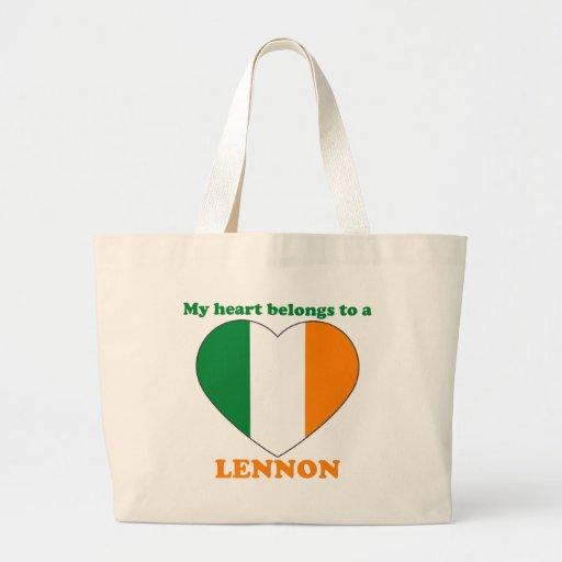 Lennon Tote Bags