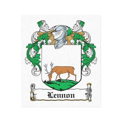Lennon Family Crest Canvas Prints