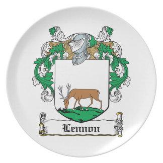 Lennon Family Crest Plates