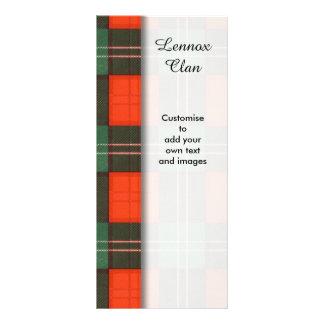 Lennox clan Plaid Scottish tartan Full Color Rack Card