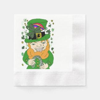 Lenny The Leprechaun Cocktail Paper Napkins Disposable Napkin