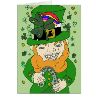 "Lenny The Leprechaun Greeting, Standard (5"" x 7"") Card"