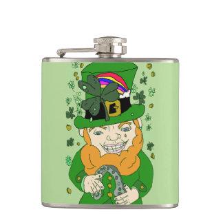 Lenny The Leprechaun Vinyl Wrapped Flask